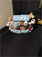 Noah's Ark Book Ends  Wind Chime Book