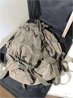 Military Backpack & Hat
