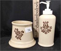 Pfatlzgraff Soap Dispenser & Candle Holder