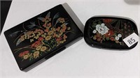 Oriental Compact & Earring Holder