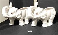 Pair Of Elephant Planters