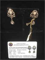 Appraised Sterling Silver earrings with .50