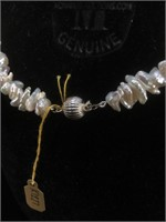 Estate Pearl necklace with Sterling Silver clasp