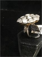 Appraised Sterling Silver ring with 3.06 carats