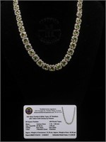 Appraised Sterling Silver necklace with 20.39