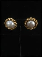 Genuine Chanel Designer earrings with matching