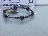 Appraised Sterling Silver bracelet with 2.04