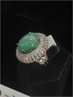 Appraised Sterling Silver ring with 11.75 carat