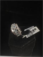 Appraised Sterling Silver ring with 1.50 carats