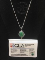GLA Certified Appraised Sterling necklace with