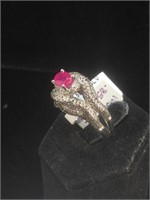 Appraised Sterling Silver ring with 0.85 carat