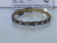 Appraised Sterling Silver bracelet with 1.37