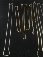 Lot of assorted metal necklaces