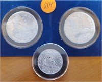 (204) LOT OF THREE OLD FOREIGN COINS