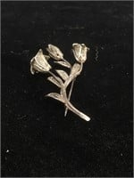 Vintage/Antique Sterling Silver brooch - approx.