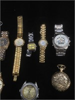 Lot of 10 watches for parts or repair - all as is