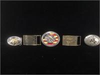 Lot of assorted metal belt buckles