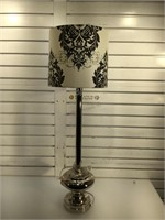 Metal table lamp w/shade, approx 36 inches tall