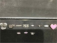 Lot of assorted costume jewelry rings and watches