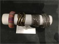 Lot of big costume jewelry bracelets