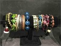 Lot of assorted costume jewelry, bracelets