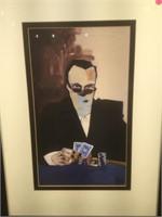 Todd White Masked Poker player print