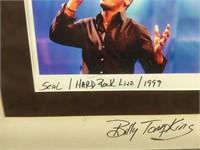 Signed Billy Tompkins photo of Seal at Hard Rock,