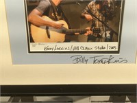 Signed Billy Tompkins photo of Kenny Loggins at
