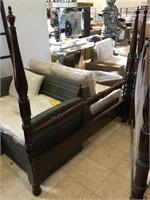 Wooden headboard and footboard w/rails , queen