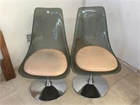 Pair of modern rotary chairs w/pads