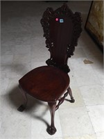 Wooden hand carved chair
