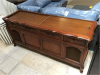 Record player cabinet w/radio, approx 5.5ft x