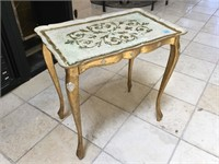 Pair of matching side table and plant pot table,