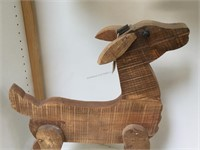Wooden decorative Deer figure, approx 19x27x5
