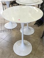 Pub table w/ top and metal base, approx