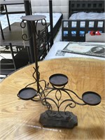 Lot of 4 metal candle holders