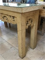 Stone hall table w/mirror top from highend hotel,
