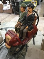 House decorative golf car figure w/guys , approx