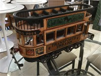 Composite rail cart model, approx 26x8x15 inches