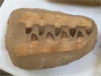 Prehistoric fossilized crocodile teeth, approx