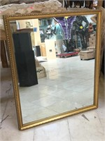 Wall hanging mirror, approx 33x38 inches