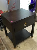 Wooden nightstand w/drawer, approx 15x18x21