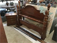 Wooden headboard, footboard queen size