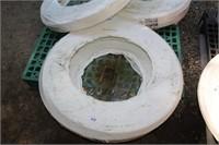 """3/4"""" 300ft aquatex white plastic hose"""