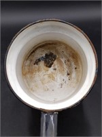 "Enamel Bowl 12.25"" and Small Pot 6"" (bowl has"