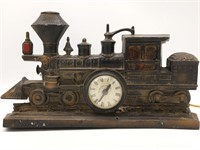 "Cast Iron Train Clock 14.5"" x 8.25"" (electric)"