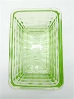 "Uranium Glass Butterdish Lid 5.75"" x 3*"