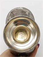"Metal Sugar Bowl with Scoop 5.75"" (unmarked)"