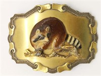 Raintree Racoon Belt Buckle 3.75""