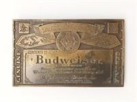 """Budweiser Belt Buckle 3.75"""""""